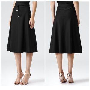 Reiss | Emilia Black High waist Skirt